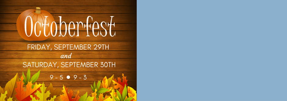 Join us for 'Fun, Food and Crafts' at this year's annual Octoberfest!